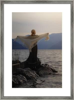 Angel In Sunset Framed Print by Joana Kruse