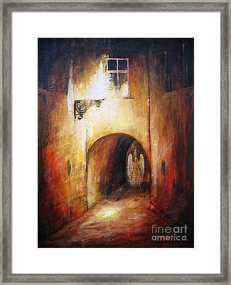 Angel In The Alley Framed Print by Dariusz Orszulik