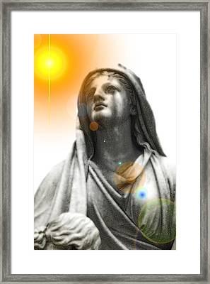 Angel In The Garden Framed Print by Scott Ware