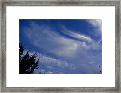 Angel In The Sky Framed Print by Linda Unger