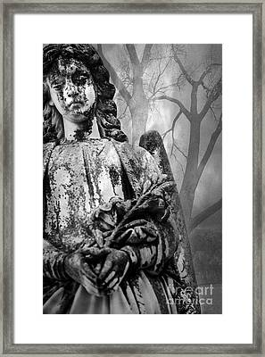 Angel In The Trees Framed Print by Sonja Quintero