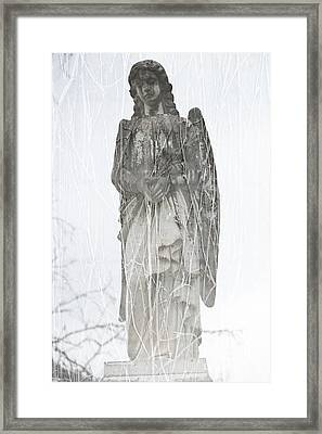 Angel In The Vines Framed Print by Sonja Quintero