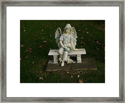 The Angel Is Watching Over Framed Print
