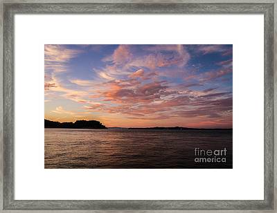Angel Island Sunset Framed Print