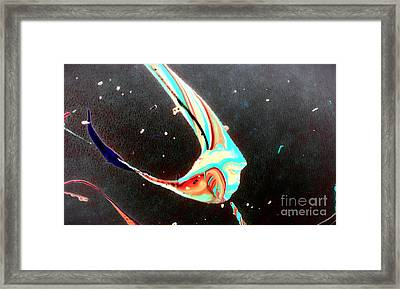 Framed Print featuring the painting Angel by Jacqueline McReynolds