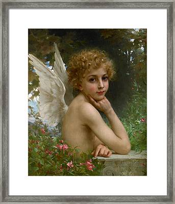 Angel Framed Print by Jules Cyrille Cave