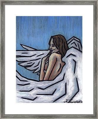 Angel Framed Print by Kamil Swiatek