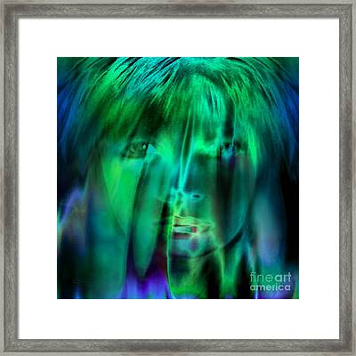 Angel Kiss Framed Print by Tlynn Brentnall
