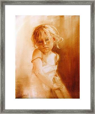 Angel Framed Print by Laura Lee Zanghetti