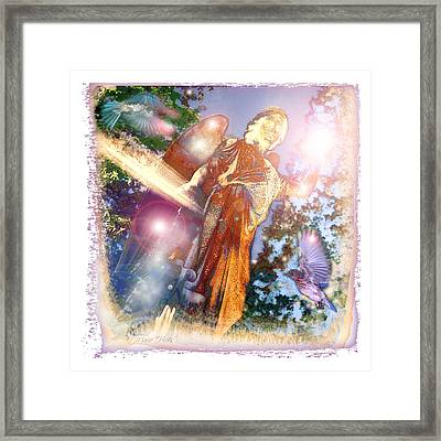 Framed Print featuring the photograph Angel Light by Marie Hicks