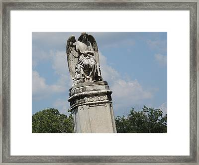Angel Made From Stone Framed Print by Aaron Martens