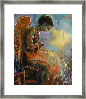 Angel Meditation Framed Print by Michal Kwarciak