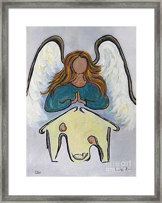 Angel - Messenger Of Joy Framed Print by Ella Kaye Dickey