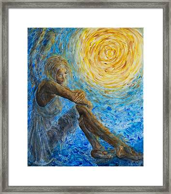 Angel Moon II Framed Print