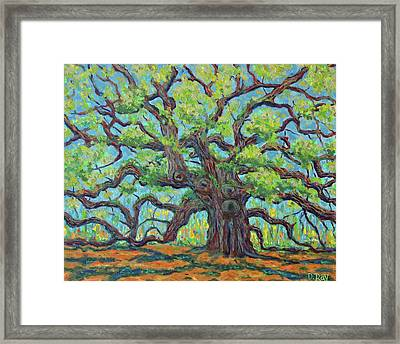 Framed Print featuring the painting Angel Oak Impression by Dwain Ray