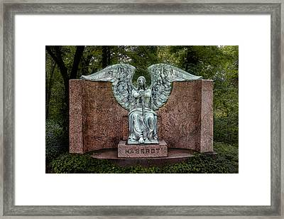 Angel Of Death Lake View Cemetery Framed Print by Tom Mc Nemar