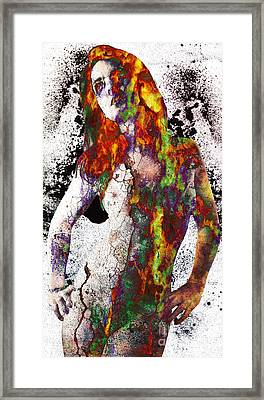 Angel Of Debris Framed Print by Michael Volpicelli