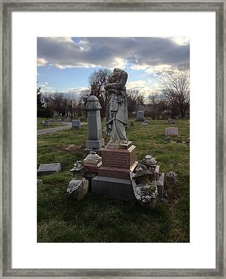 Angel Of Eastern Cemetery Framed Print by Andrew Martin
