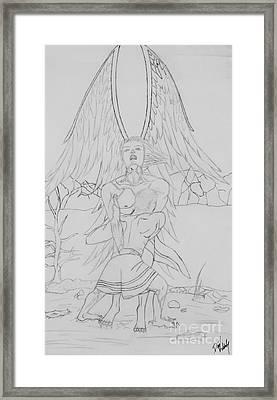 Angel Of God Struggle Framed Print by Roberta Byram