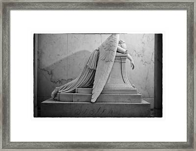 Angel Of Grief New Orleans 6 Framed Print