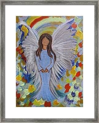 Angel Of Devotion Framed Print by Ella Kaye Dickey