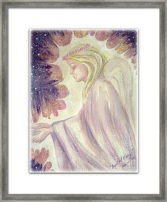Framed Print featuring the painting Angel Of Mercy by Leanne Seymour