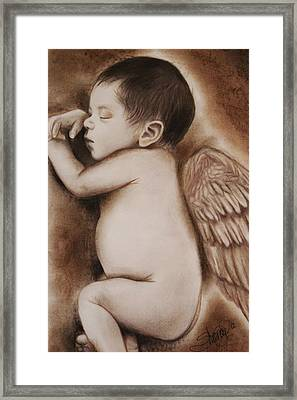 Angel Of My Tears Framed Print by Sheena Pike