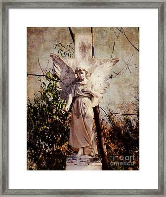 Angel Of Old Framed Print by Sonja Quintero