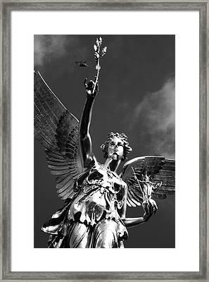 Angel Of Peace Framed Print by Marc Huebner
