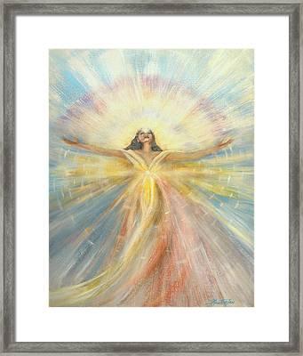 Angel Of Possibilities Framed Print by Joyce Huntington