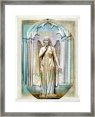 Angel Of Silence.genoa Framed Print