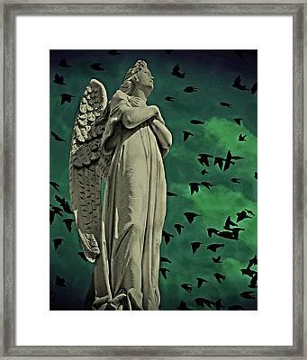 Angel Of Stone Framed Print