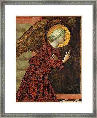 Angel Of The Annunciation Framed Print by Masolino da Panicale