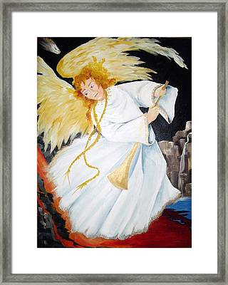 Angel Of The Apocalypse Framed Print