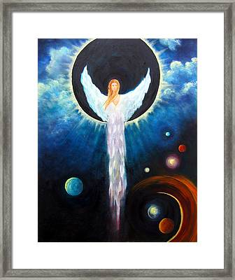Angel Of The Eclipse Framed Print