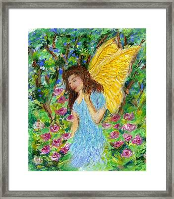 Angel Of The Garden Framed Print