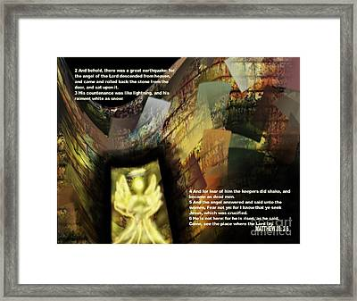 Angel Of The Lord Framed Print by Wayne Cantrell