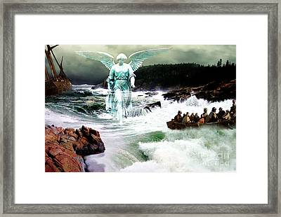 Angel Of The Storm  Framed Print