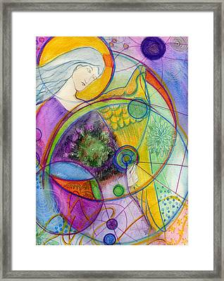 Angel Of The Wheels Of Time Framed Print