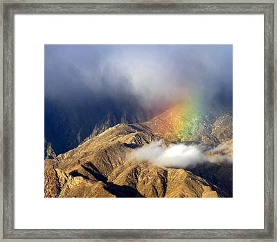 Angel On The Mountain  Framed Print