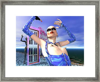 Angel Or Alien #1 Framed Print by Stephen Donoho