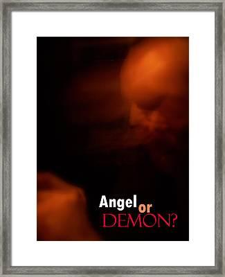 Angel Or Demon?  Framed Print by Corey Garcia