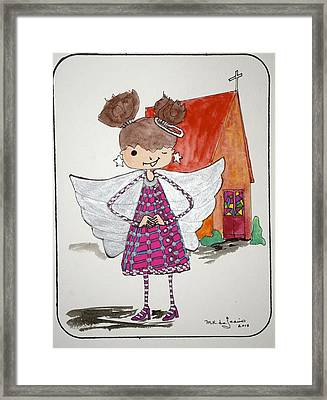 Angel Or- Framed Print by Mary Kay De Jesus