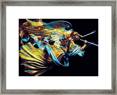 Angel Herald Framed Print by ARTography by Pamela Smale Williams