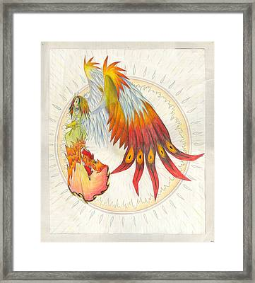 Framed Print featuring the painting Angel Phoenix by Shawn Dall