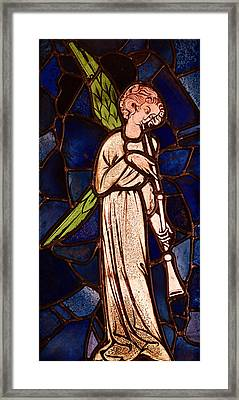 Angel Playing A Trumpet Framed Print