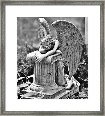 Angel Prays Framed Print by Al Fritz
