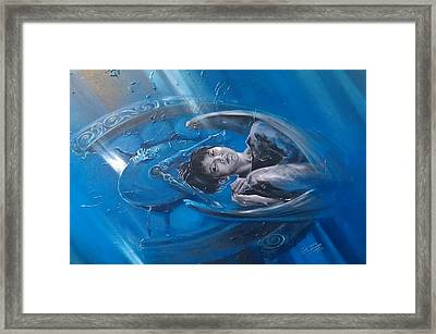 Angel Protecting Our Time Framed Print