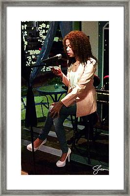Angel Reciting Poetry Framed Print by Shawn Lyte