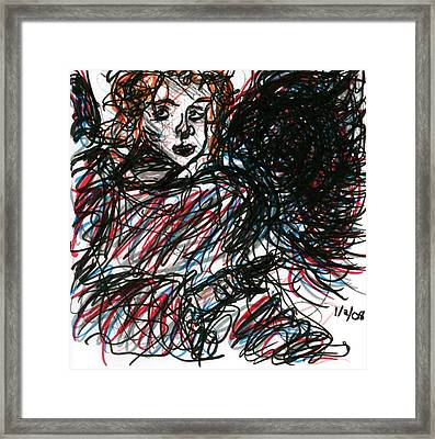 Angel Sketch Framed Print by Rachel Scott